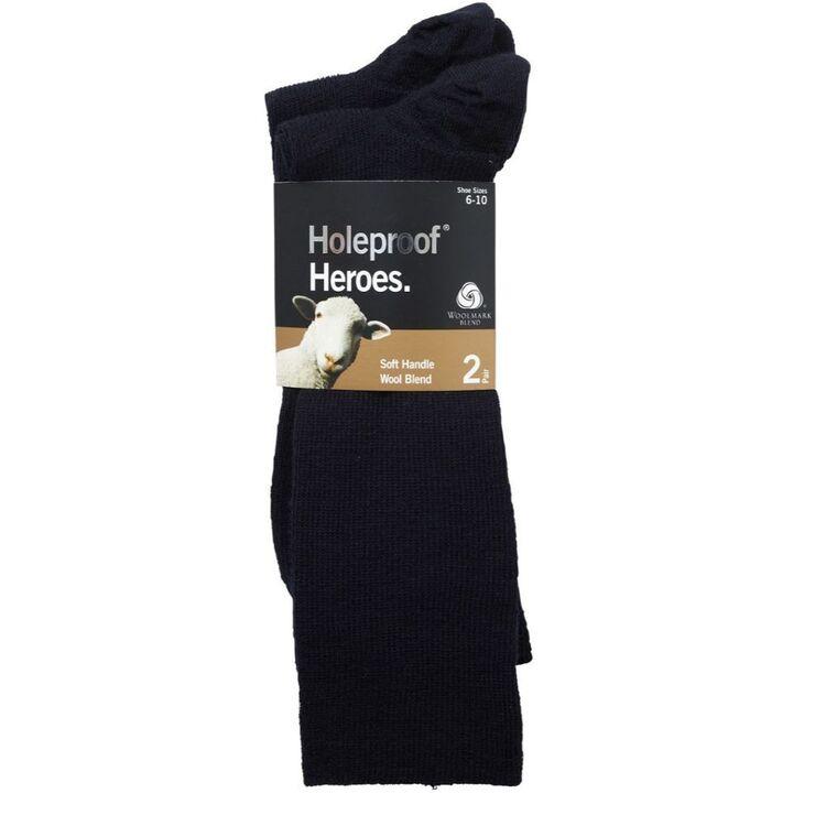 HOLEPROOF 2pk Rib Wool Business Socks
