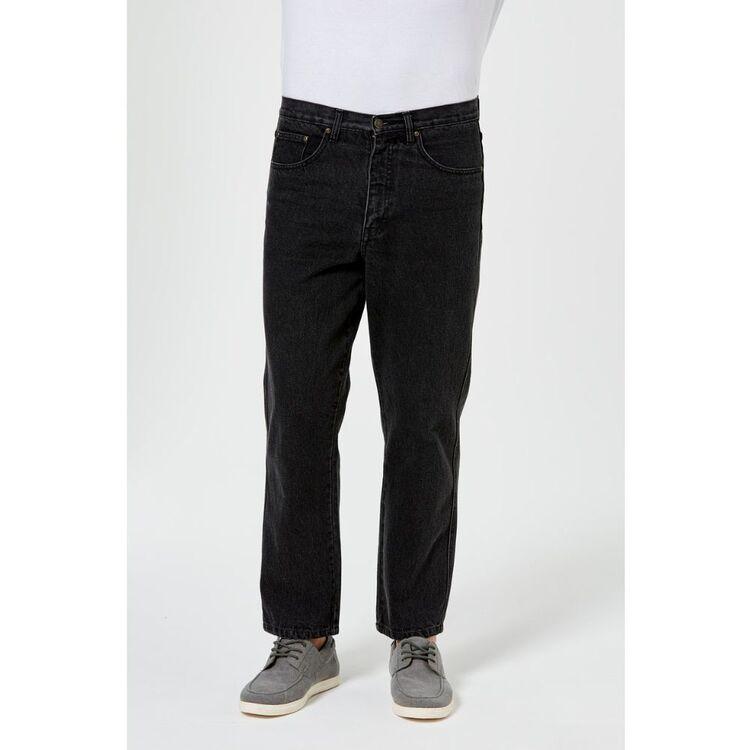 BULLSHEAD Men's Black Short Leg Denim Jean