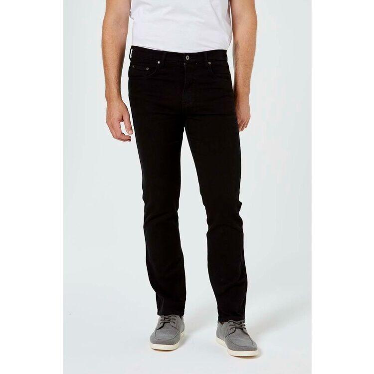 JEANS LTD Mens Slim Fit Stretch Black Denim Jeans