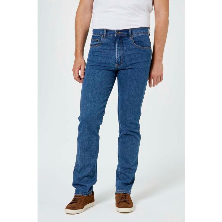 JEANS LTD Mens Slim Fit Stretch Stonewash Denim Jeans