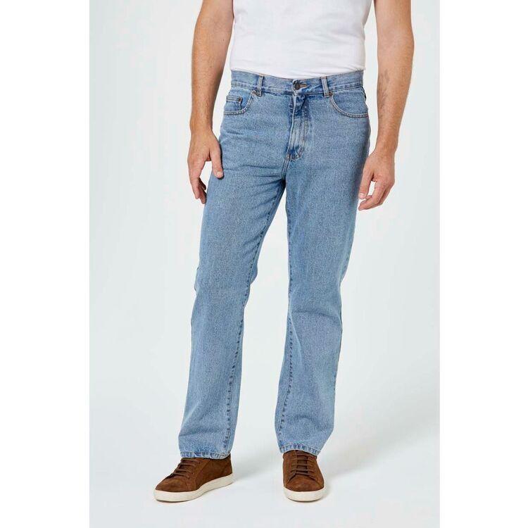 AMCO Mens Rigid Washed Denim Jean