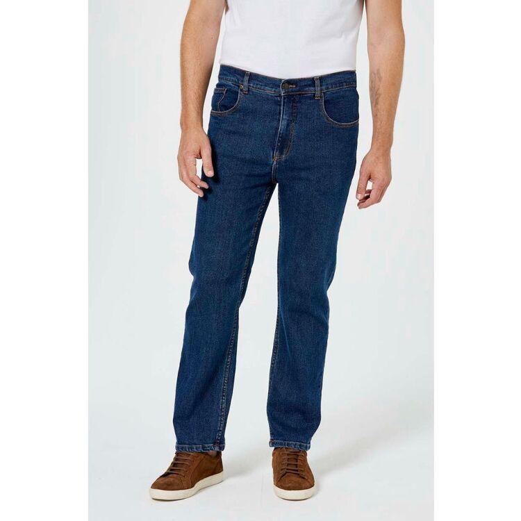 AMCO Mens Regular Leg Stretch Blue Denim Jeans