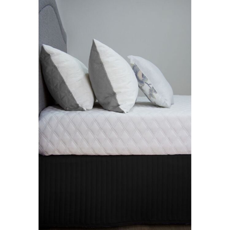 ARDOR Plain Dyed Quilted Valance Queen Bed