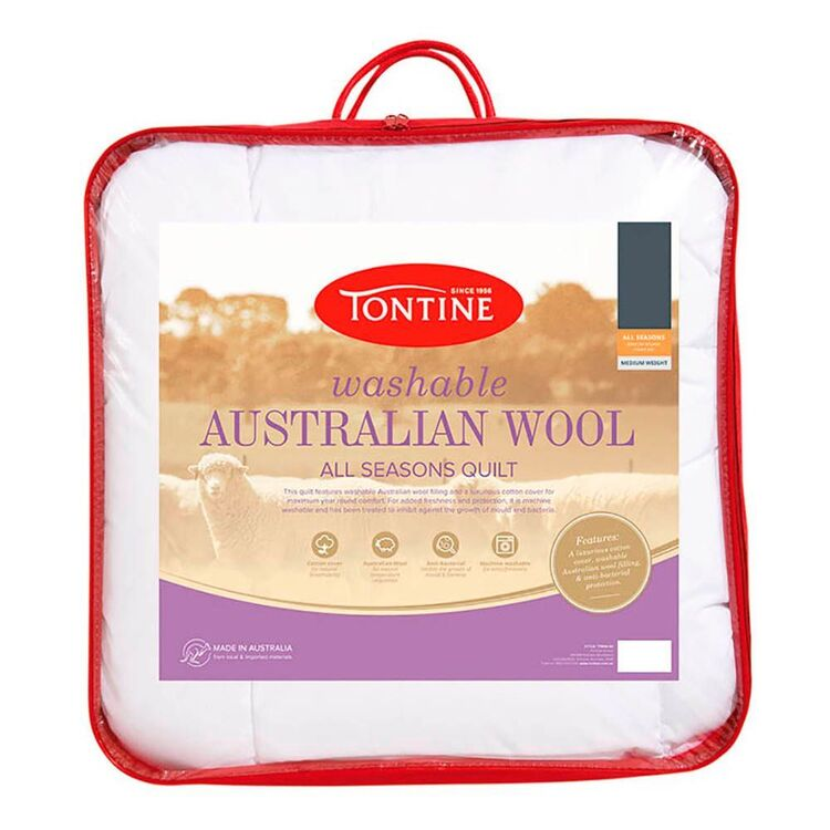 TONTINE 350GSM Washable Australian Wool Doona Queen Bed