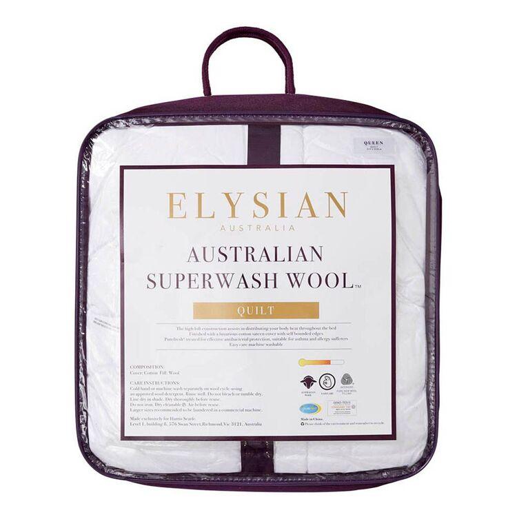 ELYSIAN 450GSM Australian Superwash Wool Quilt Queen Bed
