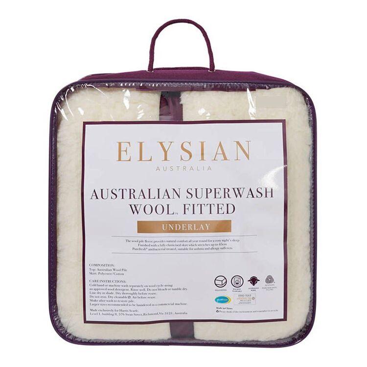 ELYSIAN 450gsm Australian Washable Wool Underlay Queen Bed