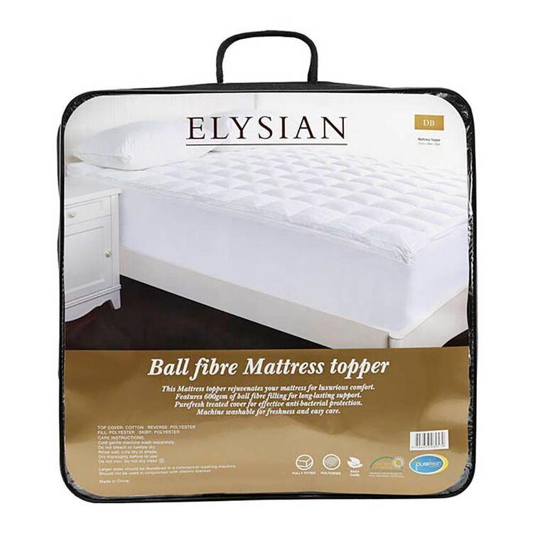 ELYSIAN 600GSM Ball Fibre Mattress Topper Single Bed