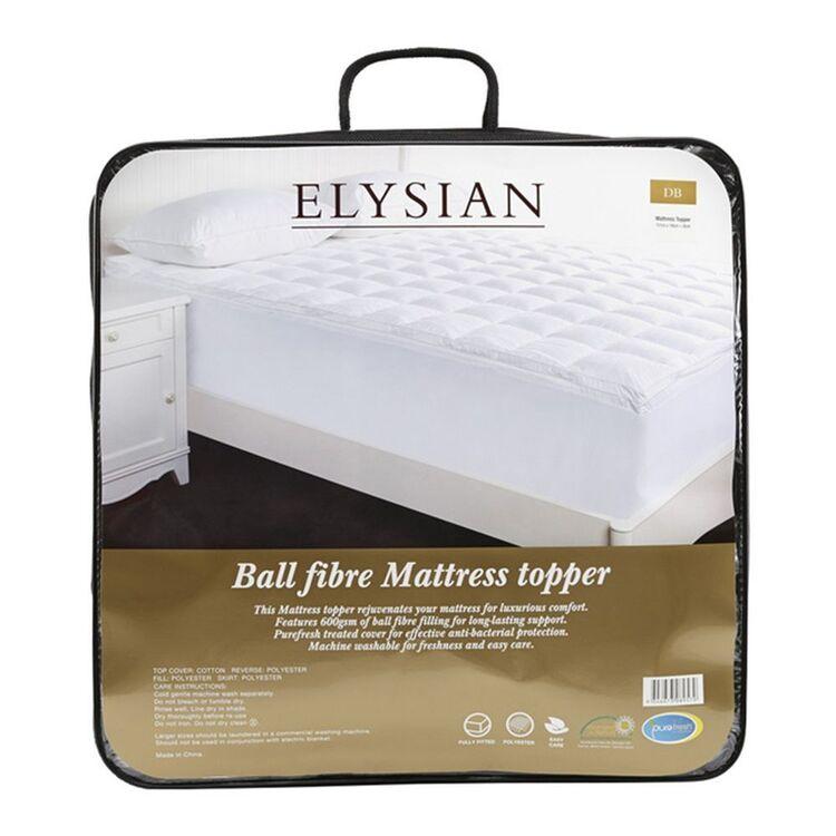 ELYSIAN Ball Fibre 600Gsm Mattress Topper Double Bed