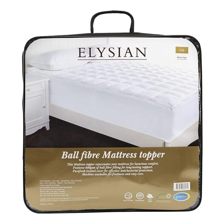 ELYSIAN Ball Fibre 600Gsm Mattress Topper QueenBed