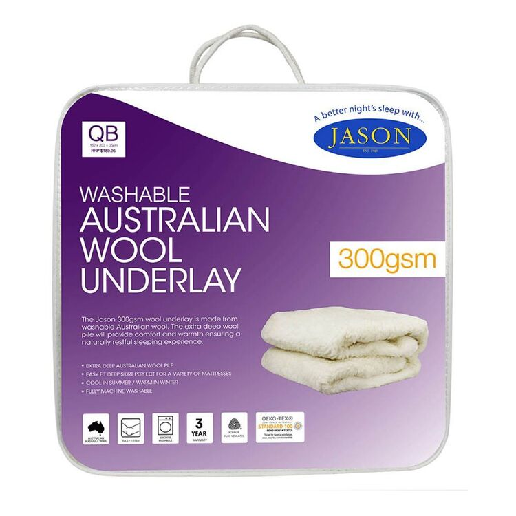 JASON 300gsm Australian Wool Underlay King Bed