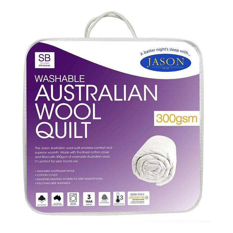 JASON Australian Wool Quilt 300Gsm Single Bed