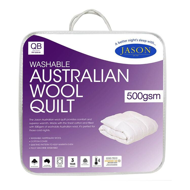 JASON 500GSM Australian Washable Wool Quilt King Bed