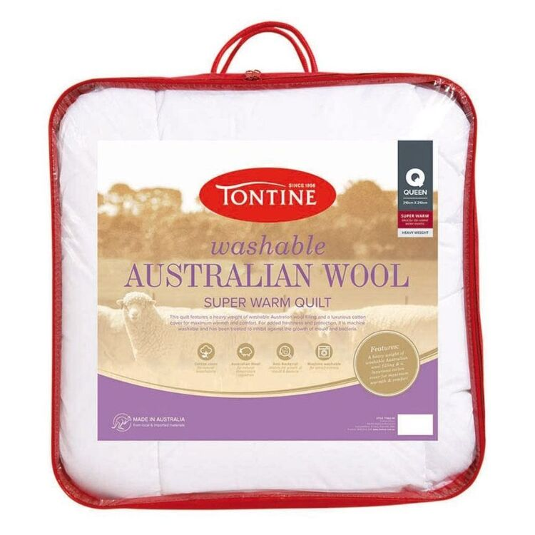 TONTINE 500gsm Superwarm Washable Australian Wool Doona Double Bed