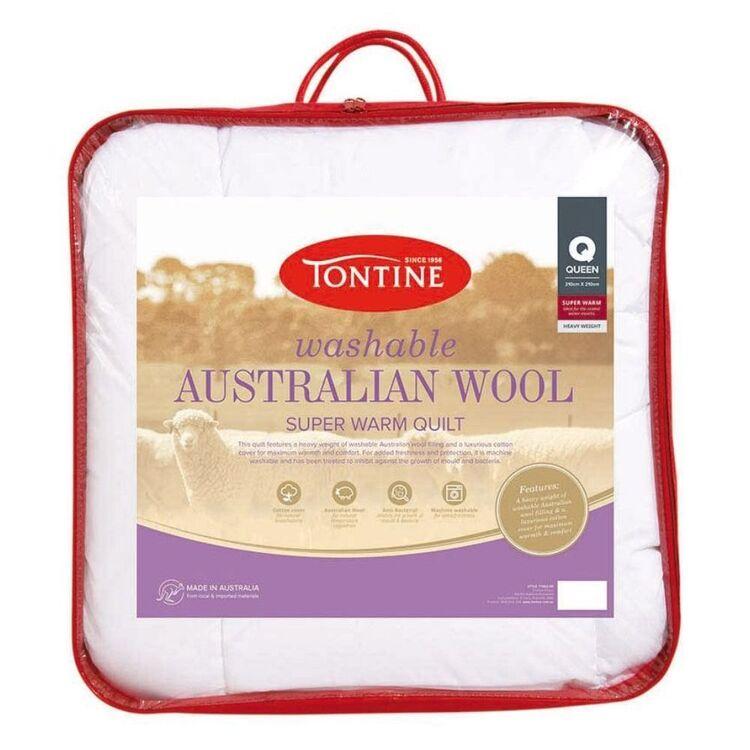 TONTINE 500gsm Superwarm Washable Australian Wool Doona Queen Bed
