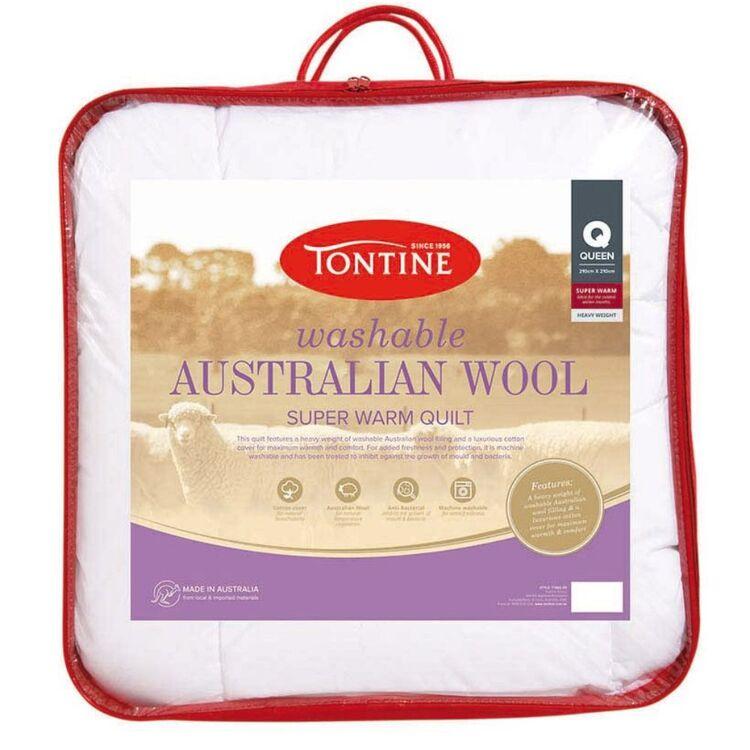 TONTINE 500gsm Superwarm Washable Australian Wool Doona King Bed
