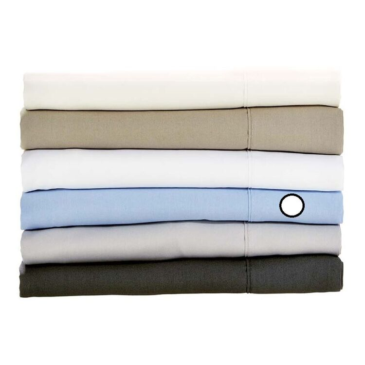 LINEN HOUSE 250 THREAD COUNT COTTON PERCALE FITTED SHEET QUEEN BED