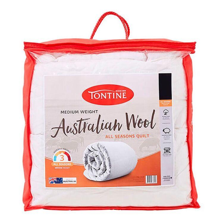 TONTINE 300gsm Australian Wool Doona Non Wash Queen Bed