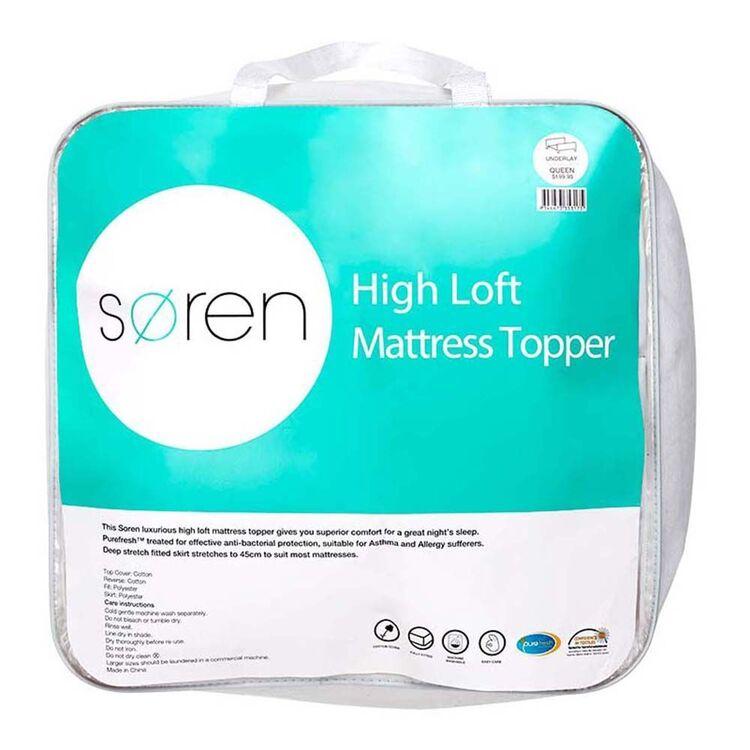 SOREN High Loft Mattress Topper Queen Bed