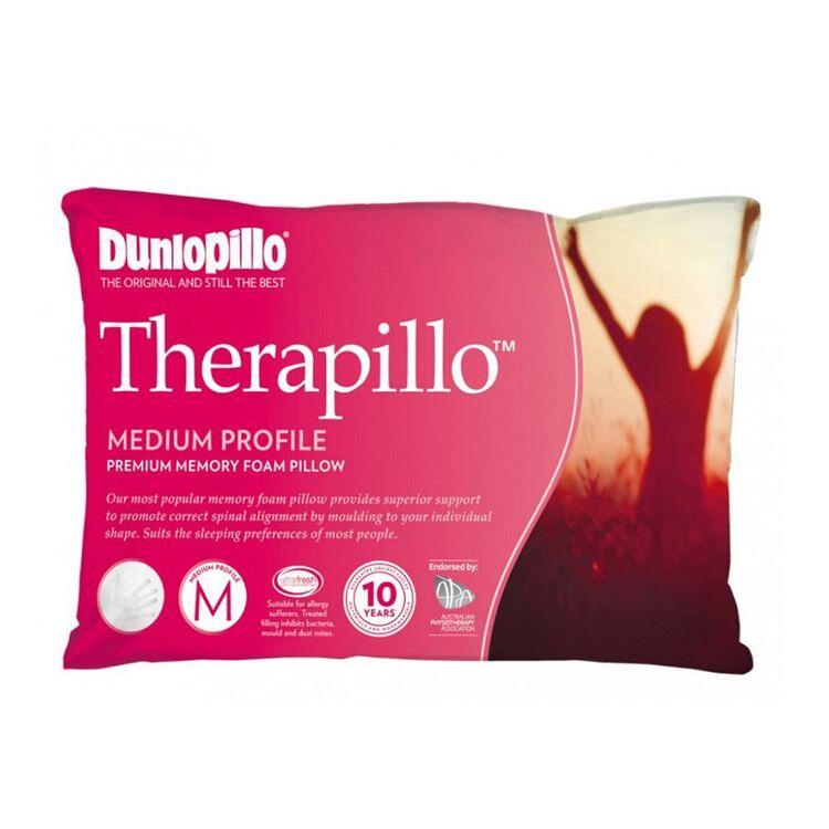 DUNLOPILLO Therapillo Memory Foam Medium Profile Pillow