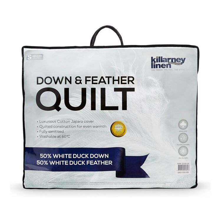 KILLARNEY 50/50 Down and Feather Quilt King Bed