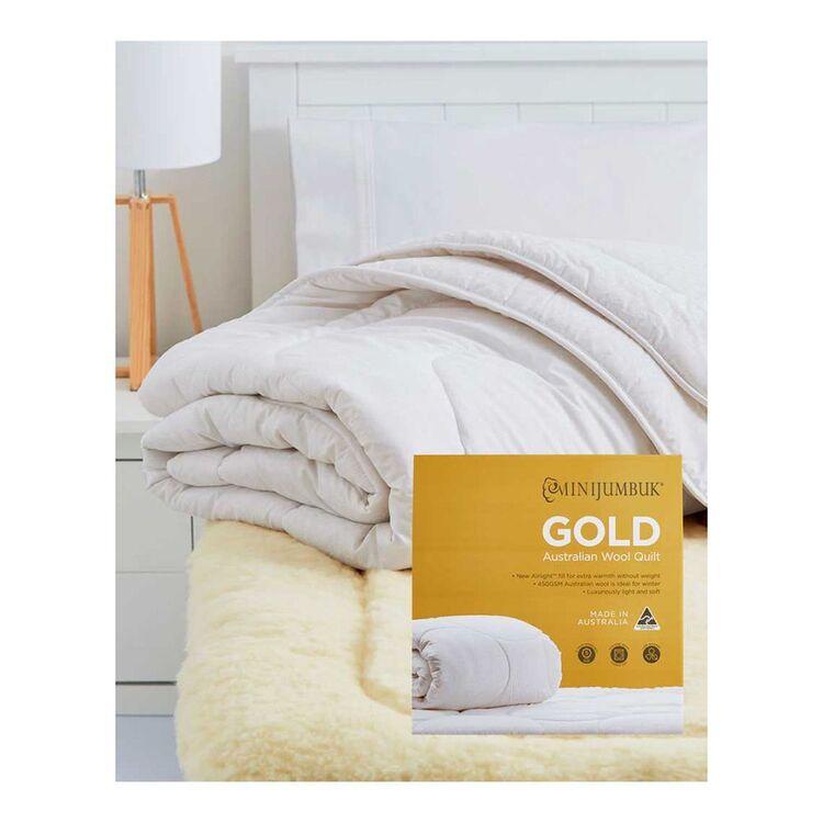 MINI JUMBUK Gold 450gsm Australian Wool Quilt King Bed