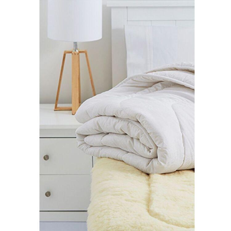 MINI JUMBUK Gold 900gsm Australian Wool Underlay King Single Bed