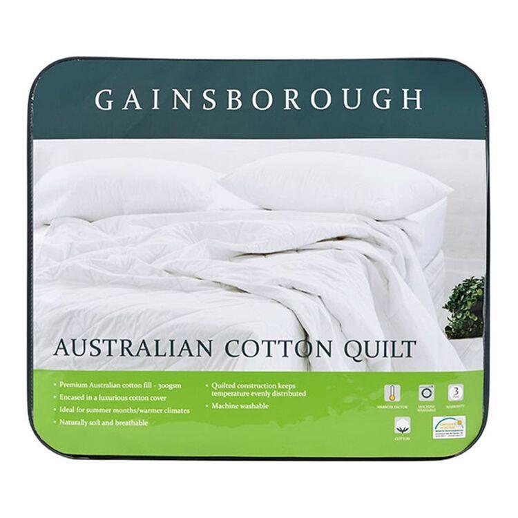 GAINSBOROUGH Australian Cotton Quilt Queen Bed