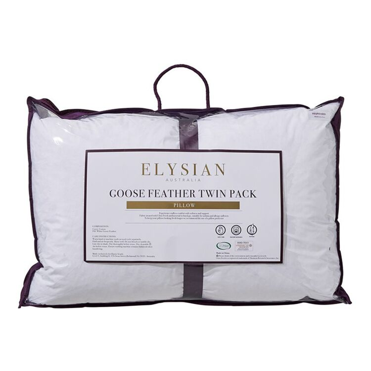 ELYSIAN Goose Feather Pillow 2 Pack