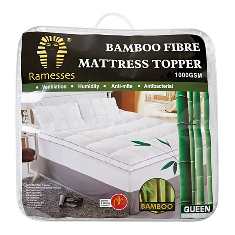 RAMESSES 1000gsm Bamboo Mattress Topper Double Bed