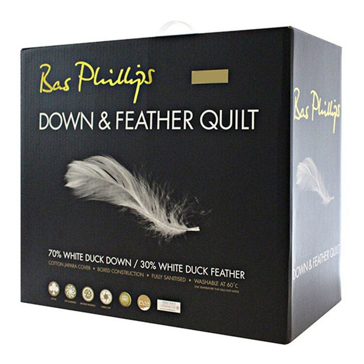 BAS PHILLIPS 70/30 Duck Down Feather Quilt Queen Bed