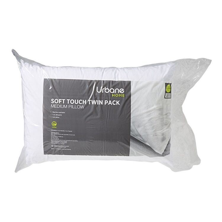 URBANE HOME Soft Touch Pillow 2 Pack