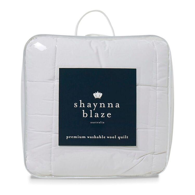 SHAYNNA BLAZE 450GSM Premium Washable Wool Quilt Super King Bed