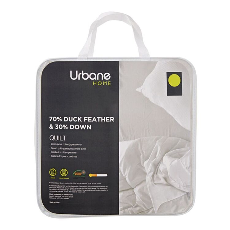 URBANE HOME 70/30 Feather And Down Quilt King Bed