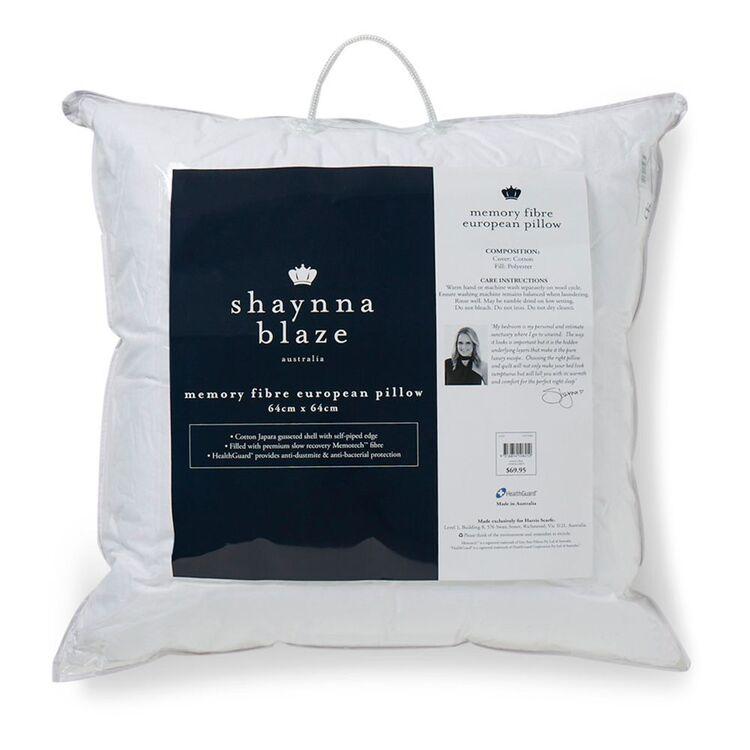 SHAYNNA BLAZE Memory Fibre Pillow European