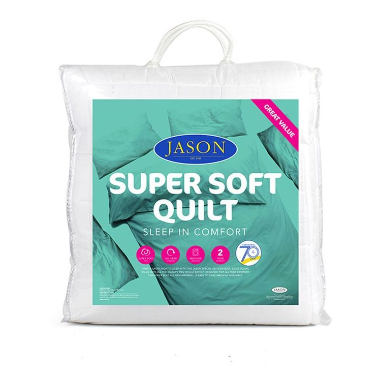 JASON SUPER SOFT POLYESTER QUILT - DOUBLE BED