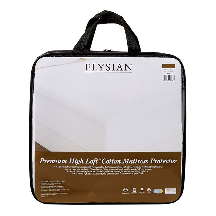 ELYSIAN Cotton Mattress Protector Double Bed