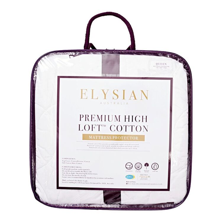ELYSIAN Cotton Mattress Protector Queen Bed