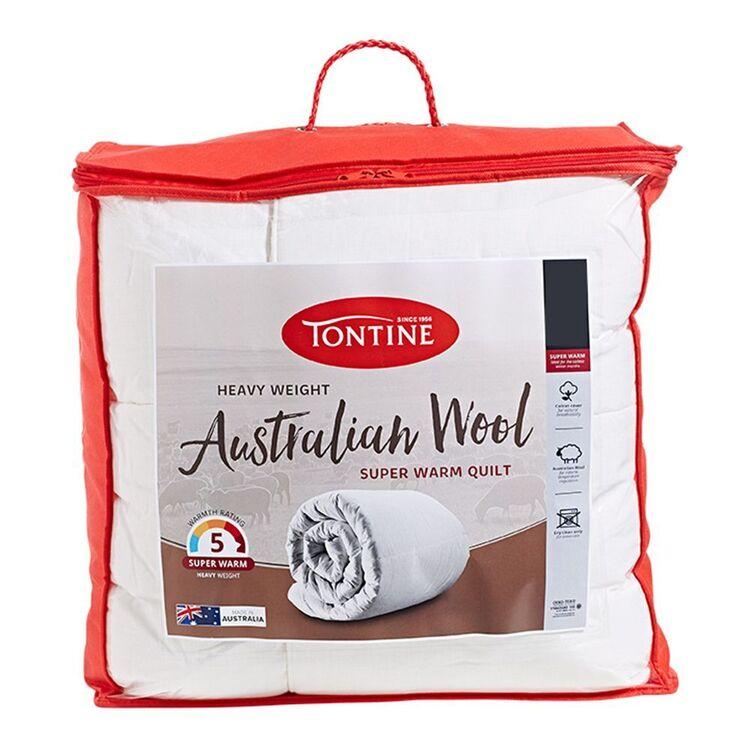 TONTINE 500gsm Heavy Weight Australian Wool Quilt Queen Bed