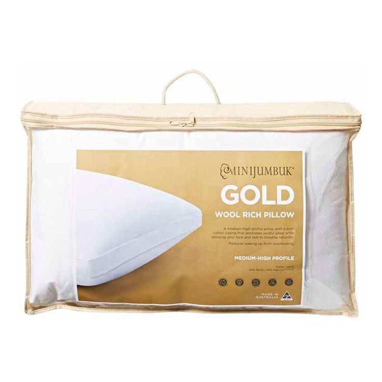 MINI JUMBUK Gold Wool Pillow Medium/High Profile