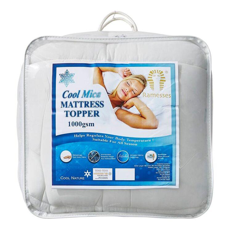 RAMESSES 1000GSM Cooling Mattress Topper Queen Bed