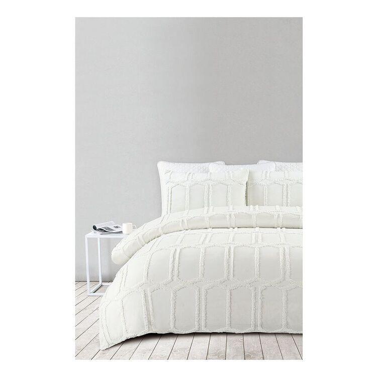SHAYNNA BLAZE Tannum Cotton Jacquard Quilt Cover Set Queen bed