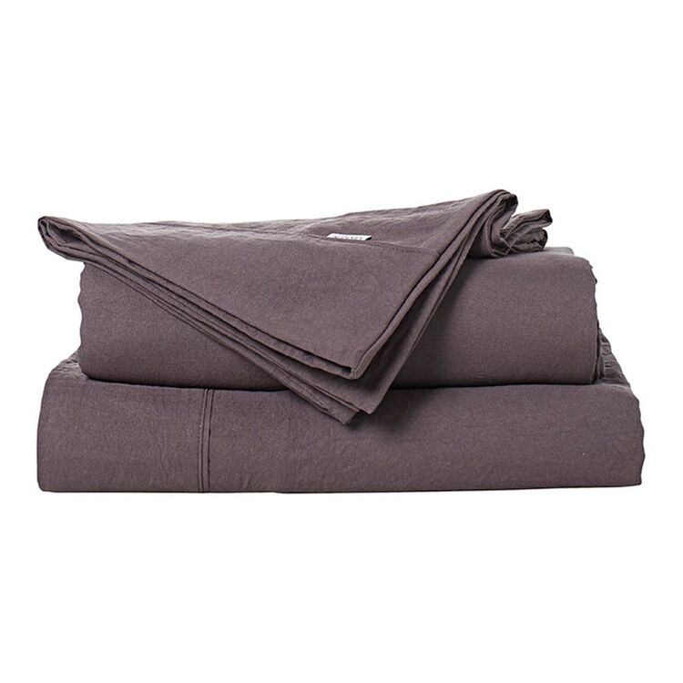 URBANE HOME Soft Touch Microfibre Sheet Set Queen Bed