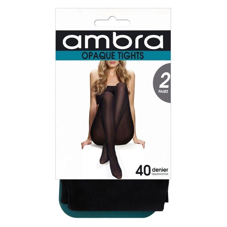 AMBRA 2PK 40D OPAQUE TIGHTS