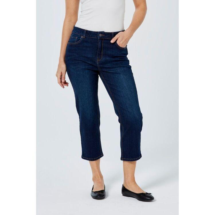 KHOKO DENIM Straight Crop Length Jean