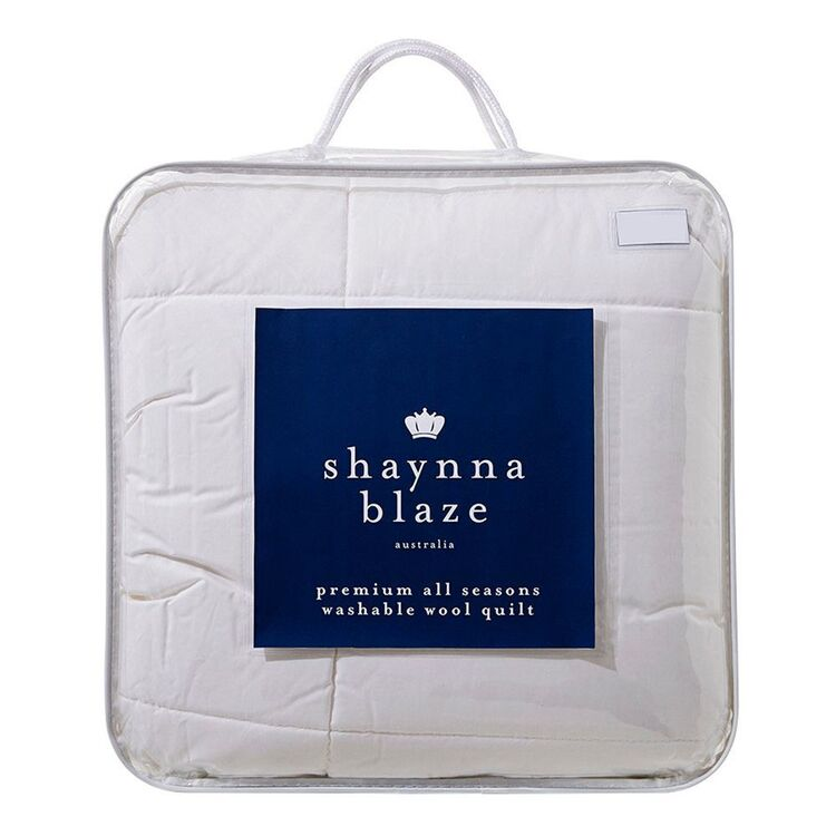 SHAYNNA BLAZE 300GSM Washable Wool Quilt Queen Bed
