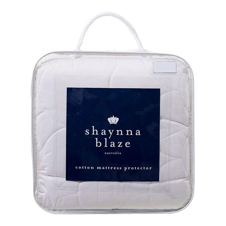SHAYNNA BLAZE Cotton Mattress Protector Queen Bed