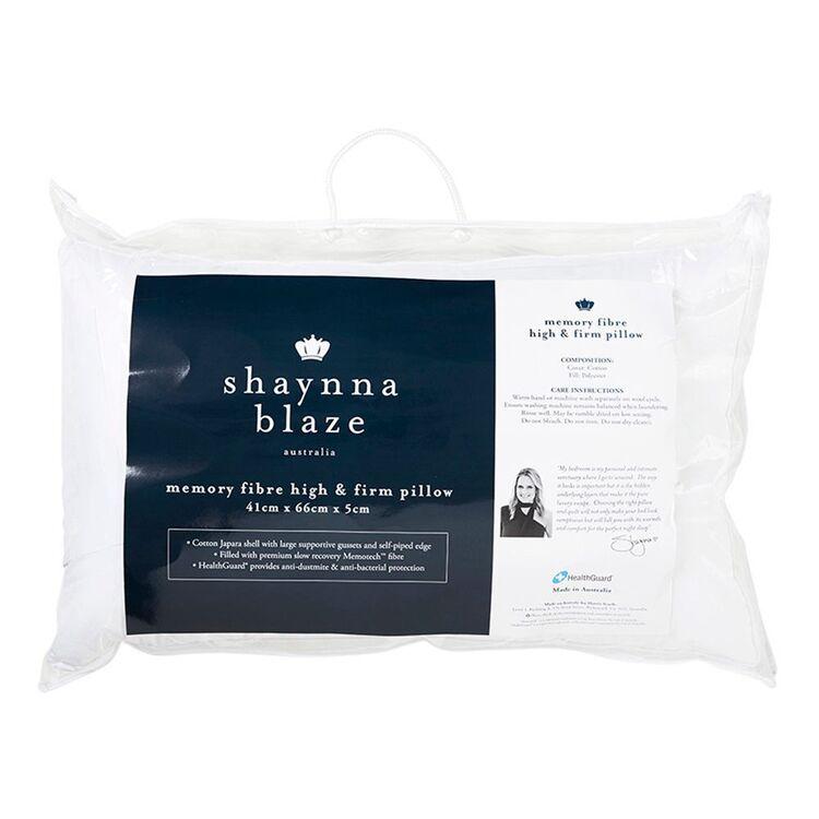 SHAYNNA BLAZE Memory Fibre Pillow Hi-Firm