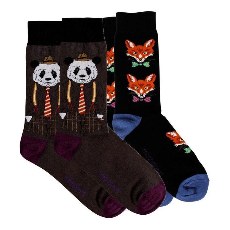 MITCH DOWD 2pk Panda and Fox Sock