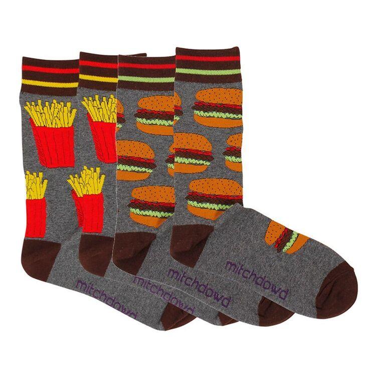 MITCH DOWD 2pk Burger Fries Socks