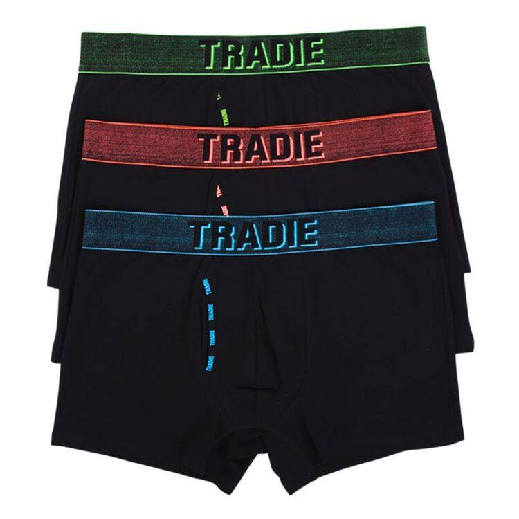 TRADIE BLACK Men's Cotton Fly Front Trunk 3 Pack